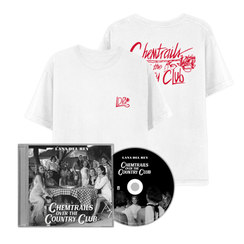 √Chemtrails Over The Country Club (CD + T-Shirt) von Lana Del Rey - CD Bundle jetzt im Lana del Rey Shop