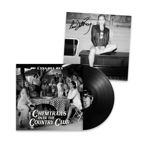√Chemtrails Over The Country Club (Standard Black Vinyl LP + Signed Art Card 12x12) von Lana Del Rey - LP + Signed Art Card jetzt im Lana del Rey Shop